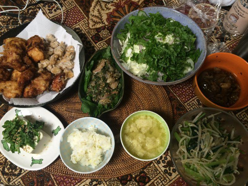 お米食べちゃう糖質制限やってみた 鳥軟骨 から揚げ お味噌汁ダイエット