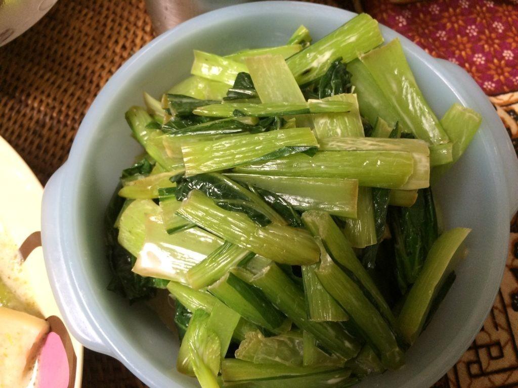 ご飯食べちゃう糖質制限やってみた 小松菜 柚子胡椒