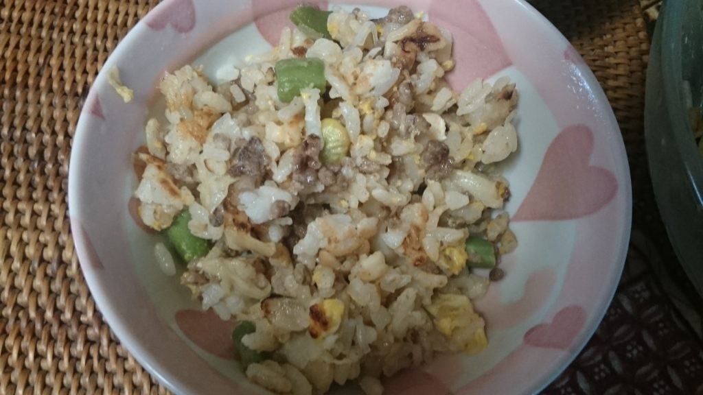 糖質制限やってみた お米を食べる チャーハンダイエット
