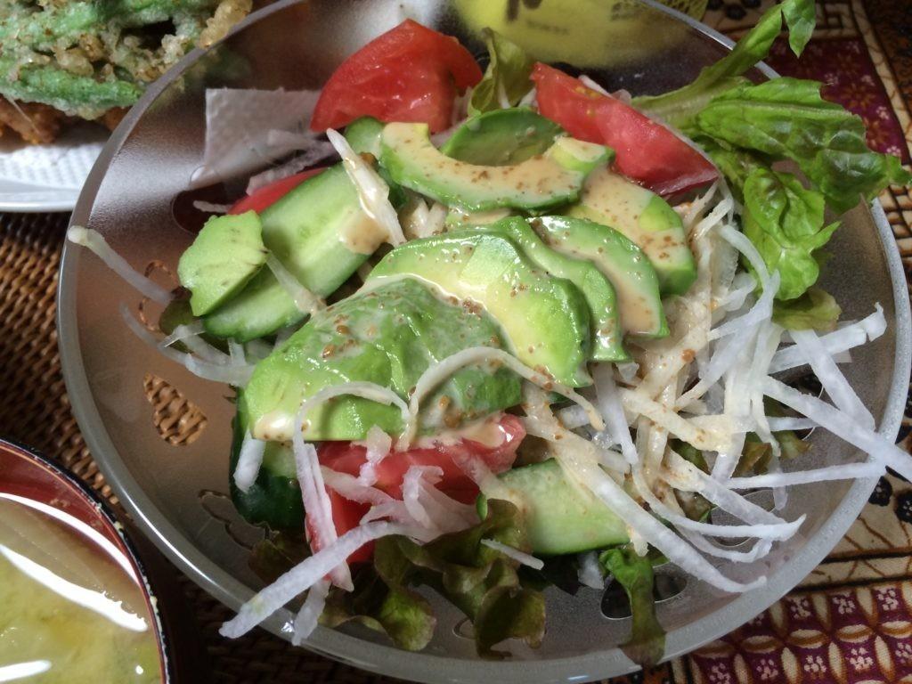 お米食べちゃう糖質制限やってみた サラダ