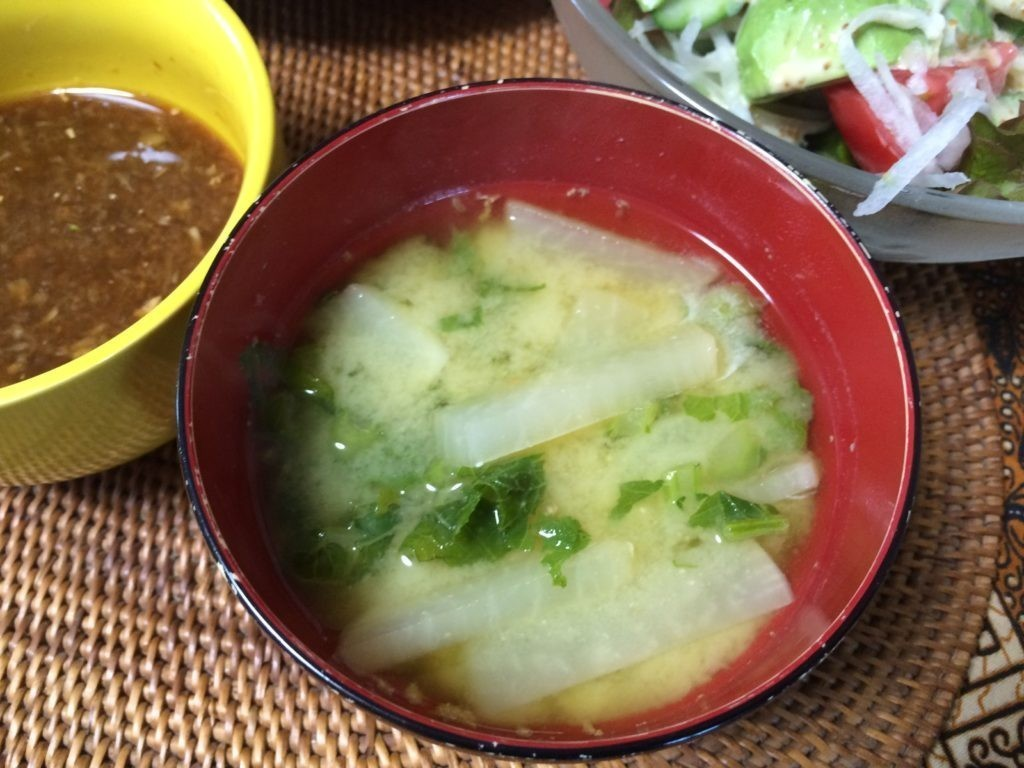 大根の葉っぱでお味噌汁 ご飯食べちゃうダイエットやってみた