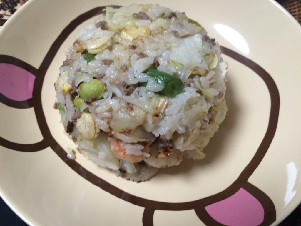お米食べて糖質制限ダイエットやってみた チャーハン