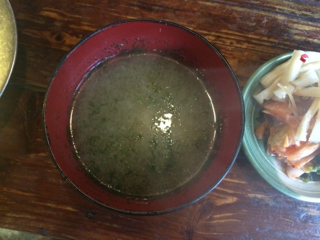 地鶏食堂 お味噌汁