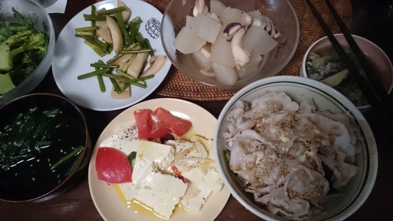 糖質制限でも米を食べる 豚しゃぶ丼 塩豆腐 ダイエットやってみた