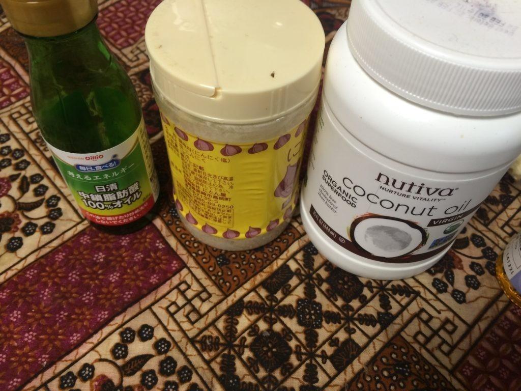エアポップコーン ココナッツオイル ガーリックソルト レシピ