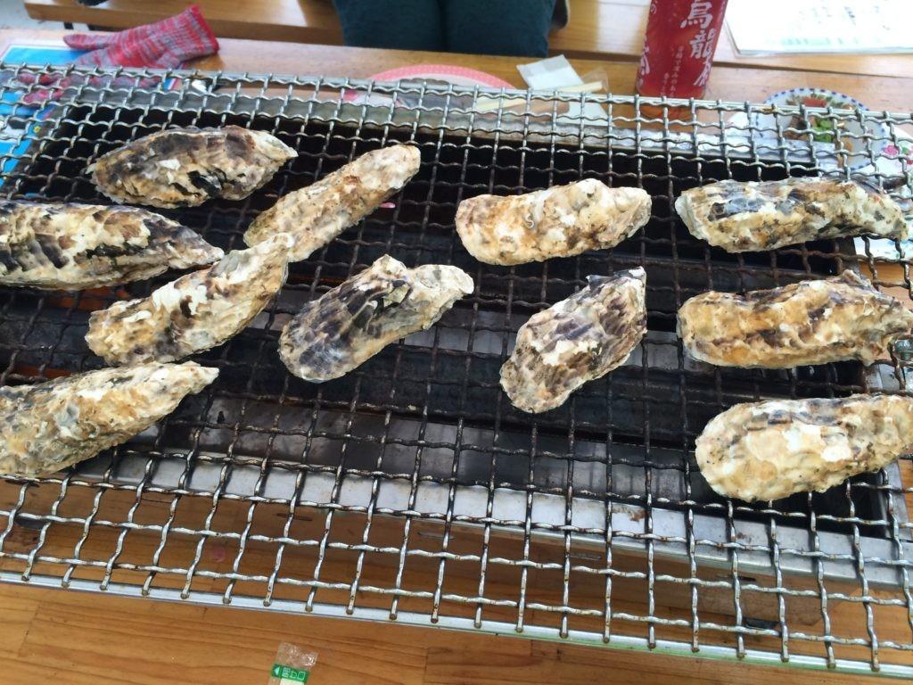 食べても太らない人 牡蠣小屋 糸島