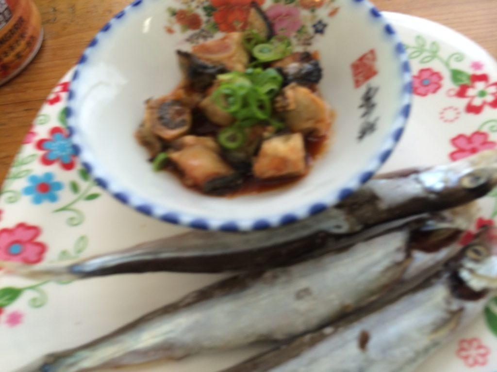 糸島 牡蠣小屋 牡蠣キムチ ししゃも