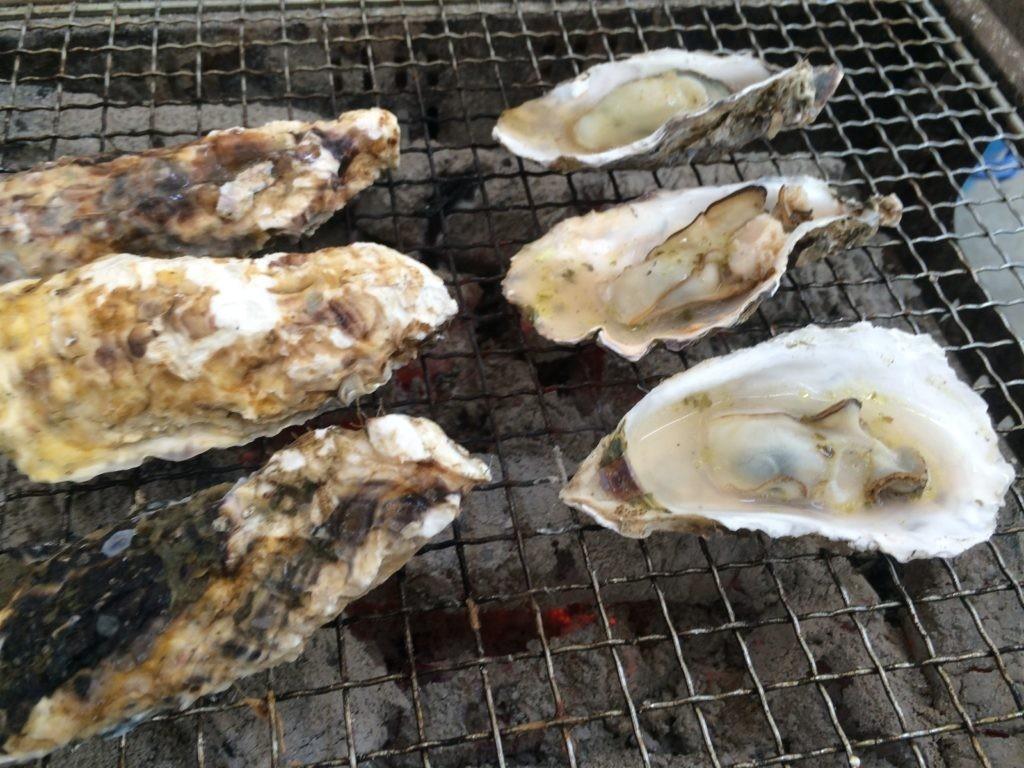 焼き牡蠣 トッピング