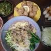 糖質0g麺でジャージャー麺 おきゅうと、茎ワカメでミネラル補給 糖質制限12日目