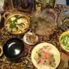 29日目豚豆腐チゲ鍋 お刺身 やまふぐ おからヒジキタケノコ和えタ 糖質0g麺汁