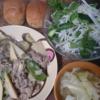 26日目白滝ビーフン ベーコンキャベツスープ ブランパン 糖質制限でもお米を食べ