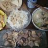 豆乳鍋と油揚げチーズハム挟み焼き 糖質制限23日目